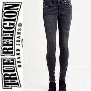 TRUE RELIGION Off Black Skinny Jeans